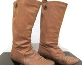 Beige Tan Slouchy Boots