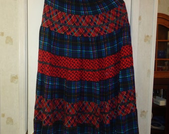 Carole Little Maxi Skirt Boho Hippie Style Size 6 Colorful