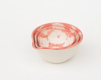 SALE! ikat nesting bowls in coral