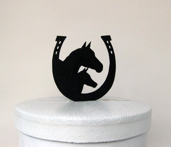 horseshoe wedding cake toppers wedding cake topper and horseshoe 15319