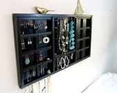 Jewelry Organizer Display Hanger Holder Espresso Black Brown Glossy Handmade Large