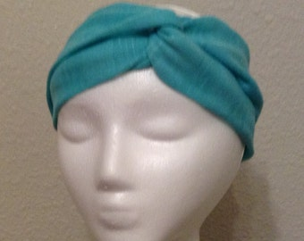 Teal Turban Headband, Twist Turban, Turban Headwrap, Turban Headband, Fashion Accessories for Women, Women's Headband