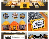 Bat Kid Birthday Party - DIY PRINTABLE Personalized Package FULL Collection - H8a