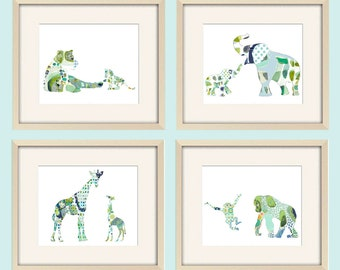 boy Nursery Art Baby Boy Nursery Decor jungle nursery wall art elephant nursery giraffe nursery elephant print elephant art giraffe print