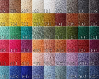 200 gram / 7oz. choose Any  color - Laceweight linen yarn color palette