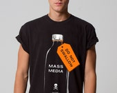 Mass Media: Do Not Swallow. Funny Political Unisex t-shirt. FREE SHIPPING.