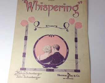 Whispering - 1920s Sheet Music