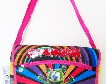 Gummibär The Gummy Bear Pink Shoulder Messenger Bag
