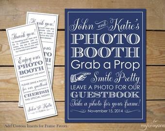 Wedding Photobooth Sign Custom Photo Booth Frame Inserts Printable