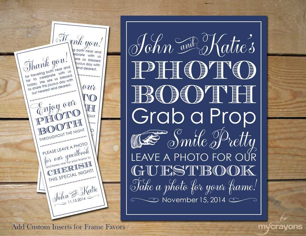 wedding photobooth sign custom photo booth frame inserts printable photo booth sign wedding photobooth navy wedding decor