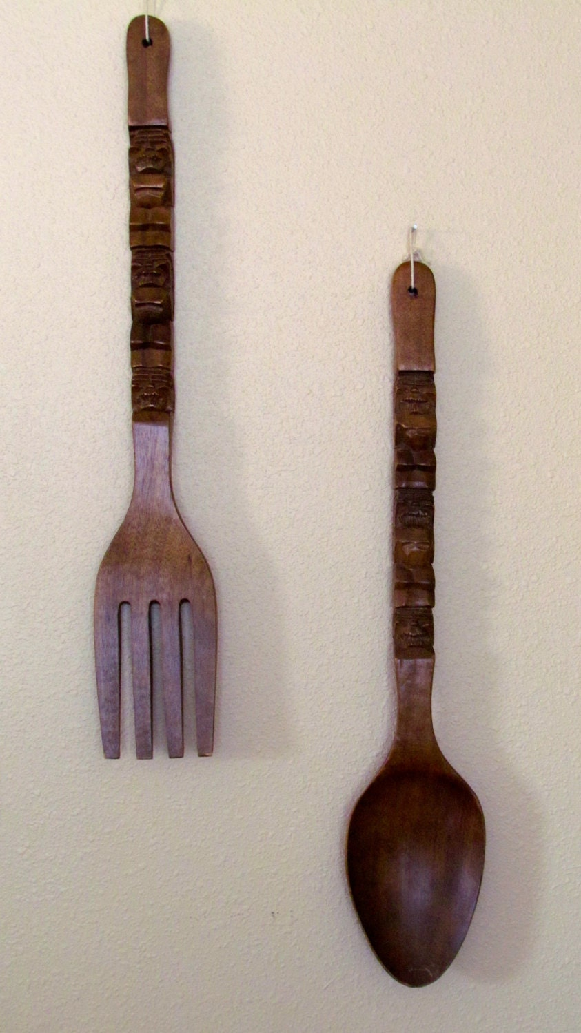 Large Fork And Spoon Wall Decor Similiar Wooden Spoon For Large Wall Keywords