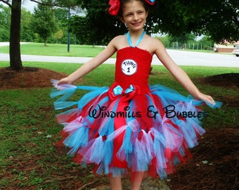 Thing one or Thing Two Tutu Dress!!