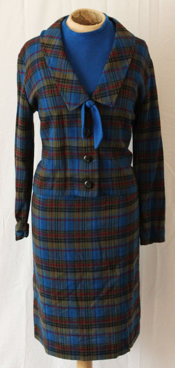 1950s Vintage -- Study Time Dress and Jacket -- Small