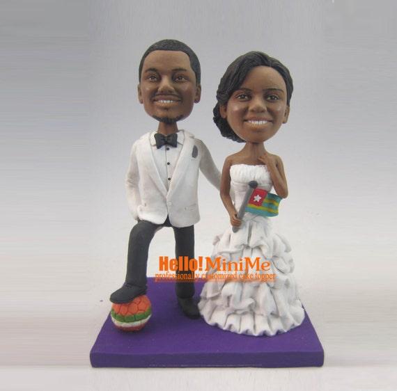 cake topper wedding cake topper bobble head custom cake topper. Black Bedroom Furniture Sets. Home Design Ideas