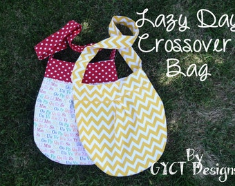 Lazy Day Crossover Bag PDF Pattern:  Adult and Child Sizes