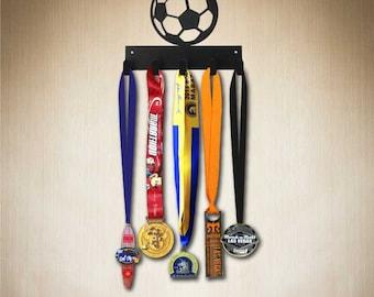 Medal Hanger - Soccer Medal Holder, Medal Hanger by SportHooks 5 hk ( hang 15+ medals)   Larger 10 hook size available. www.sporthooks.com