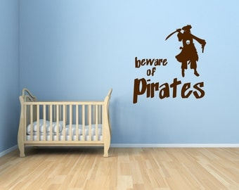 Pirate Vinyl Wall Art - Kid's Vinyl Wall Art 0003
