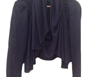 Black shrug /  Light short jacket / Black top / Women jacket / ON SALE
