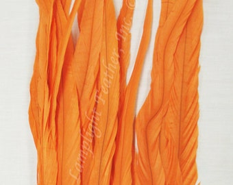Coque Feathers, Orange, 15-18 inch per 12 feathers,