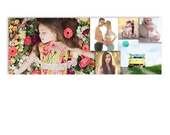 Photography Marketing Photoshop Facebook Cover Template - Moments - 1279
