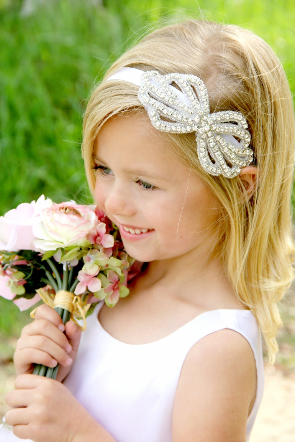 Flower girl headbands from Pink Princess are comfortable for long-wear, and fashionable. Click to shop our line and find the perfect style. TOP TEXT Offer applies to new subscribers only. By submitting your email, you agree to accept emails regarding new promotions and .