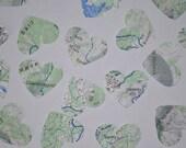 Heart Confetti- Vintage Map