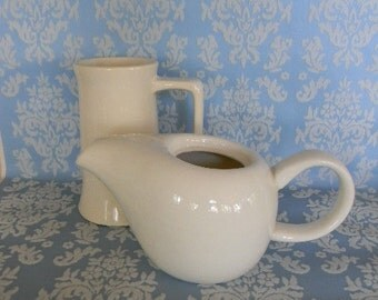 vintage russell wright ceramic tea pot