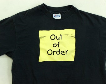 Out of Order 1980's T-Shirt L