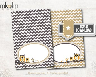 Items Similar To Owl Place Cards Escort Cards Tent Cards