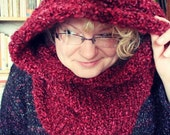 Speak Friend Hooded Cowl Knit Adult Size (Payment Plan) Reserved for Deven
