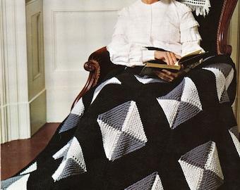 "Quick Knit ""Afghan"" Squares Blanket Knitting Pattern - PDF Instant Download - Afghan Crochet Lap Blanket - Afghan Throw - Digital Pattern"