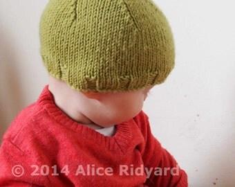 gumnut baby pixie hat pattern - pdf knit pattern - easy newborn and baby bonnet pattern