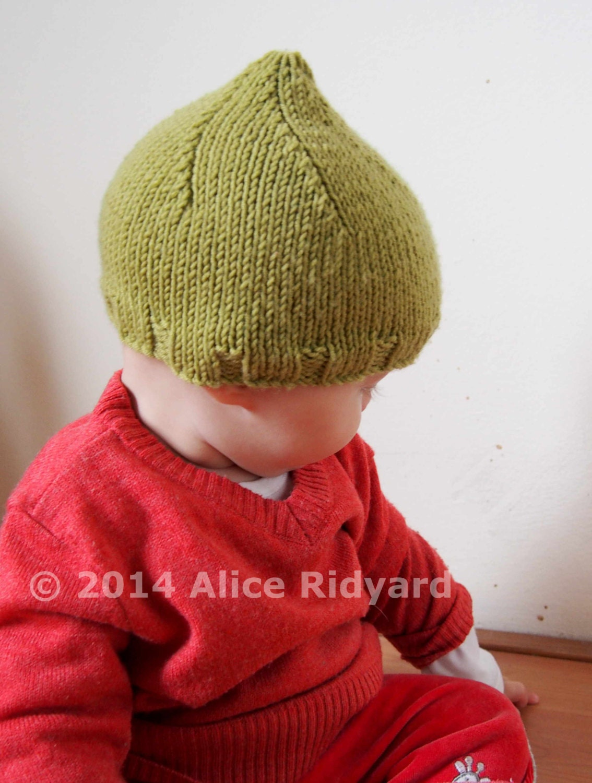 Easy Pixie Hat Knitting Pattern : gumnut baby pixie hat pattern pdf knit pattern easy