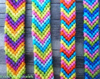 Colorful Chevron Friendship Bracelet - Bestseller - String Friendship Bracelet - Chevron - Best Friend Gift
