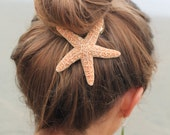 Baja Starfish Hair clip, Barrette or Pinch Clip, nautical hairclip, beach wedding, mermaid accessories