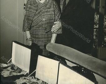 Upton Sinclair writer with dolls toy rare vintage photo