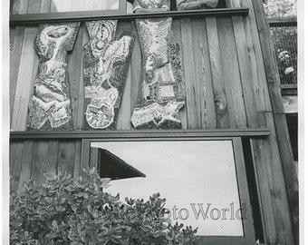 Dancer Ann Halprin w husband in window vintage photo
