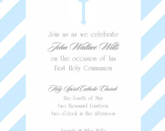 First Communion, Baptism, Christening, Confirmation Invitation  with Envelopes, Digital Download JPG, and Note Cards