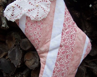 C. Girls Pink Patchwork Lace Stocking