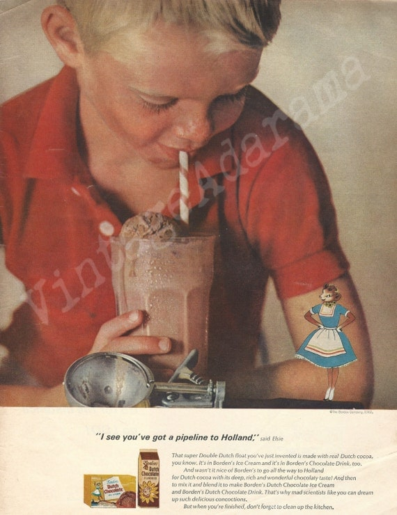 Borden S Dutch Chocolate Milk Amp Ice Cream Original 1962