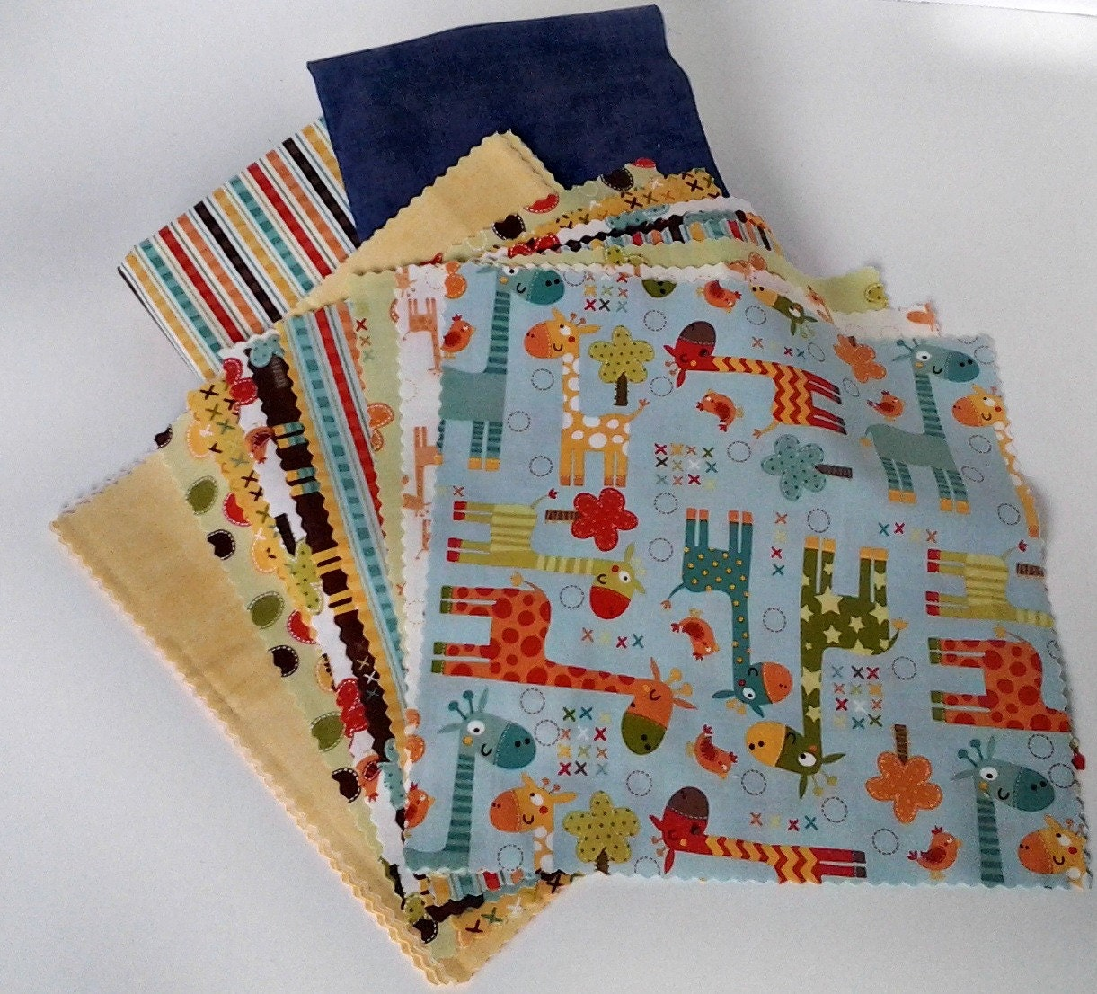Baby quilt kit baby boy quilt kit zoo animal by mamajamaquilts for Boy quilt fabric