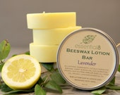 Large Lavender Beeswax Lotion Bar, Solid Lotion, 3 ounces