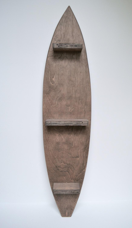 Wooden Surfboard Shelf Decorative Shelf Surf Decor