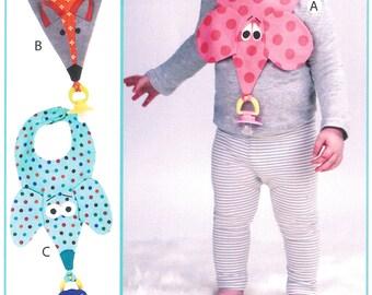 "Pattern ""Binkie Bibs"" Paper Sewing Pattern by Vanilla House Designs (P206) Paper Pattern"