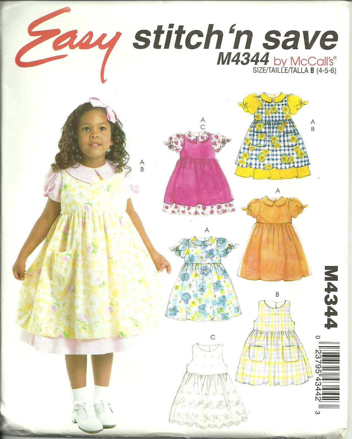 9e35be3eb696 UNCUT Sewing Pattern Girls Dress Sewing Pattern Toddler Dress ...