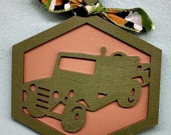 Military Jeep Christmas Ornament