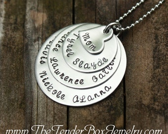 Personalized Mothers Mom Grandma Necklace large family necklace custom necklace  Mother's day