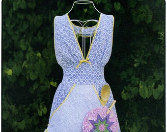 Busy Diva Apron & Star Potholder - Victoria Jones Sewing Pattern # 408