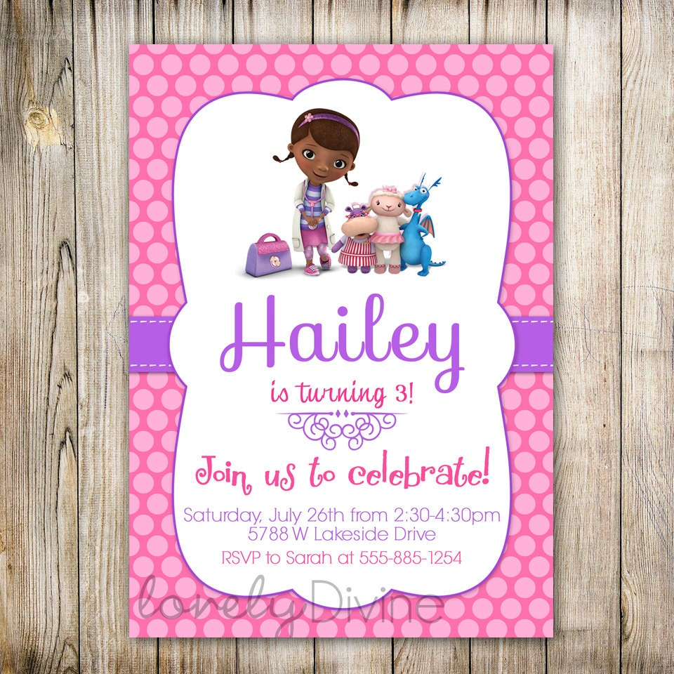 Doc Mcstuffins Invitations Free Pauls Party Zone Happy 4th