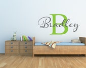 Personalized Name Wall Decal Personalized Monogram Decal Childrens Name Wall Decal Nursery Decor Childrens Decor Vinyl Wall Decal